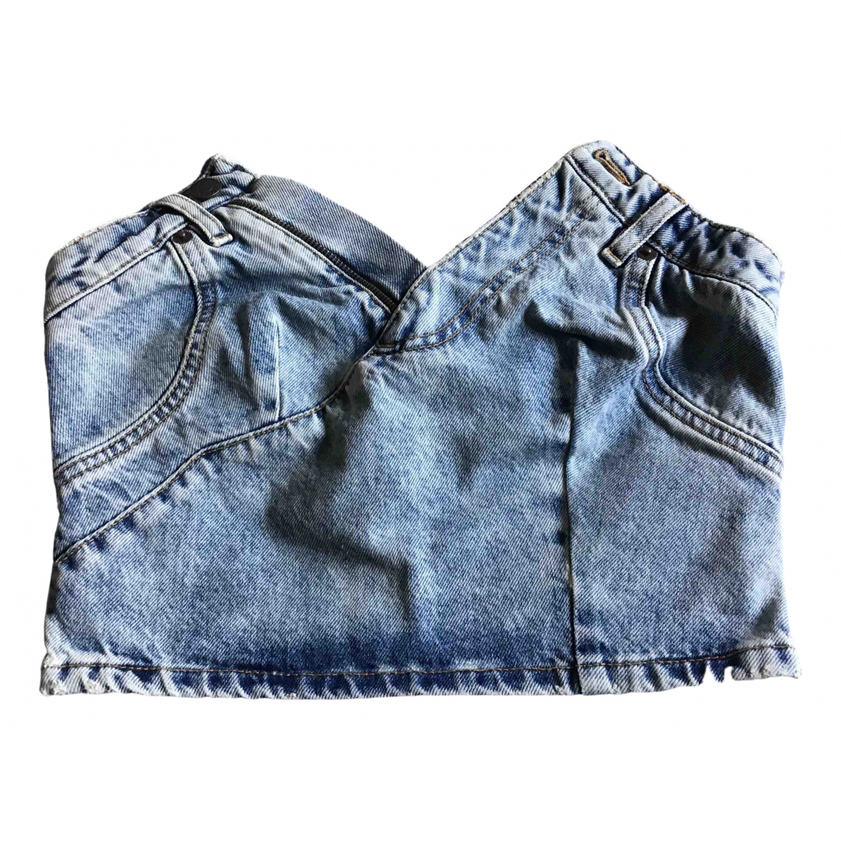 Moschino For H&m N Blue Denim - Jeans  top for Women 34 FR
