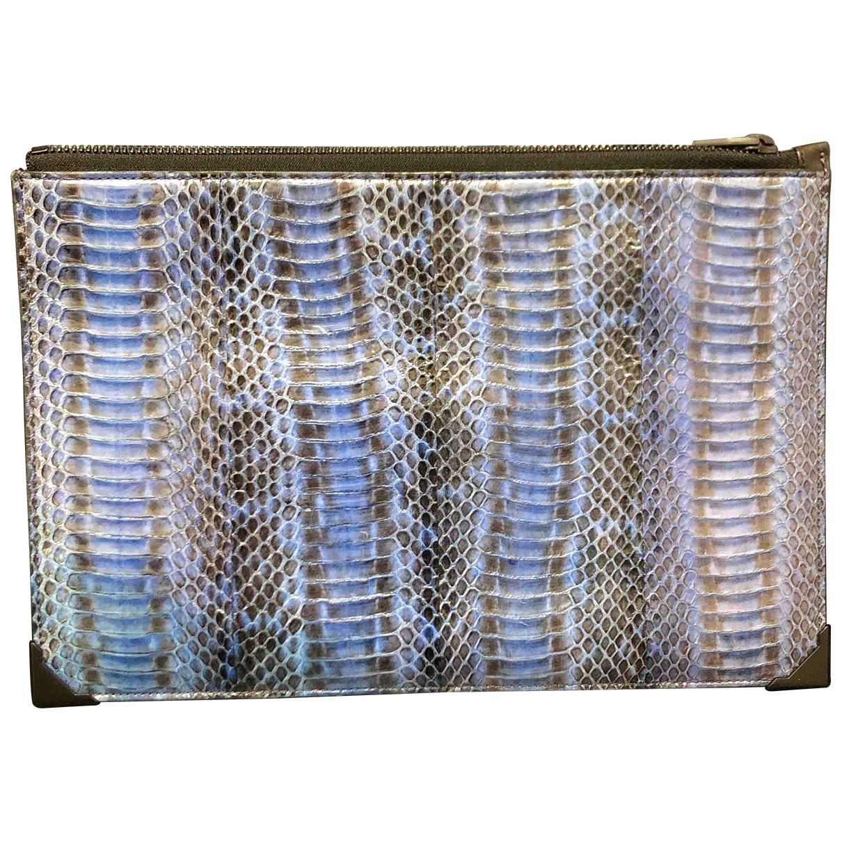 Alexander Wang \N Blue Python Clutch bag for Women \N