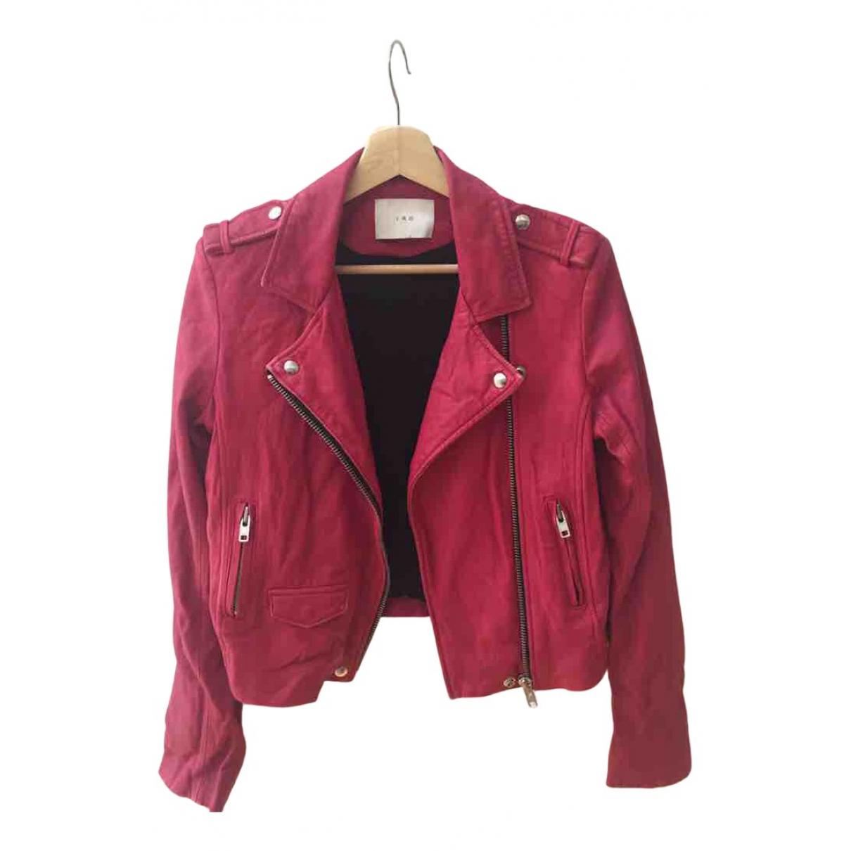 Iro - Veste   pour femme en cuir - rose