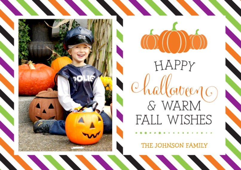 Halloween Photo Cards 5x7 Cards, Premium Cardstock 120lb, Card & Stationery -Halloween and Fall Wishes
