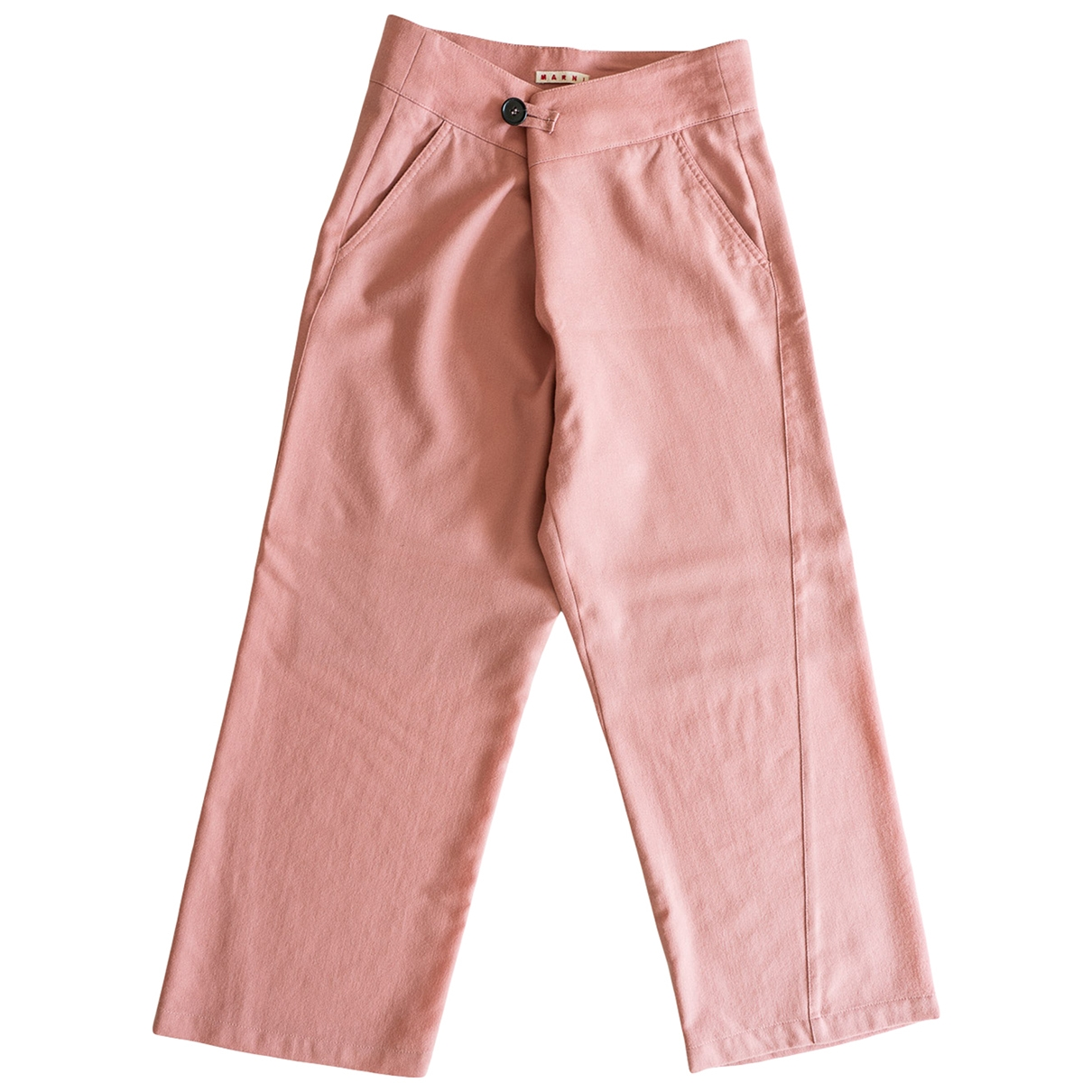 Marni \N Pink Wool Trousers for Kids 14 years - S FR