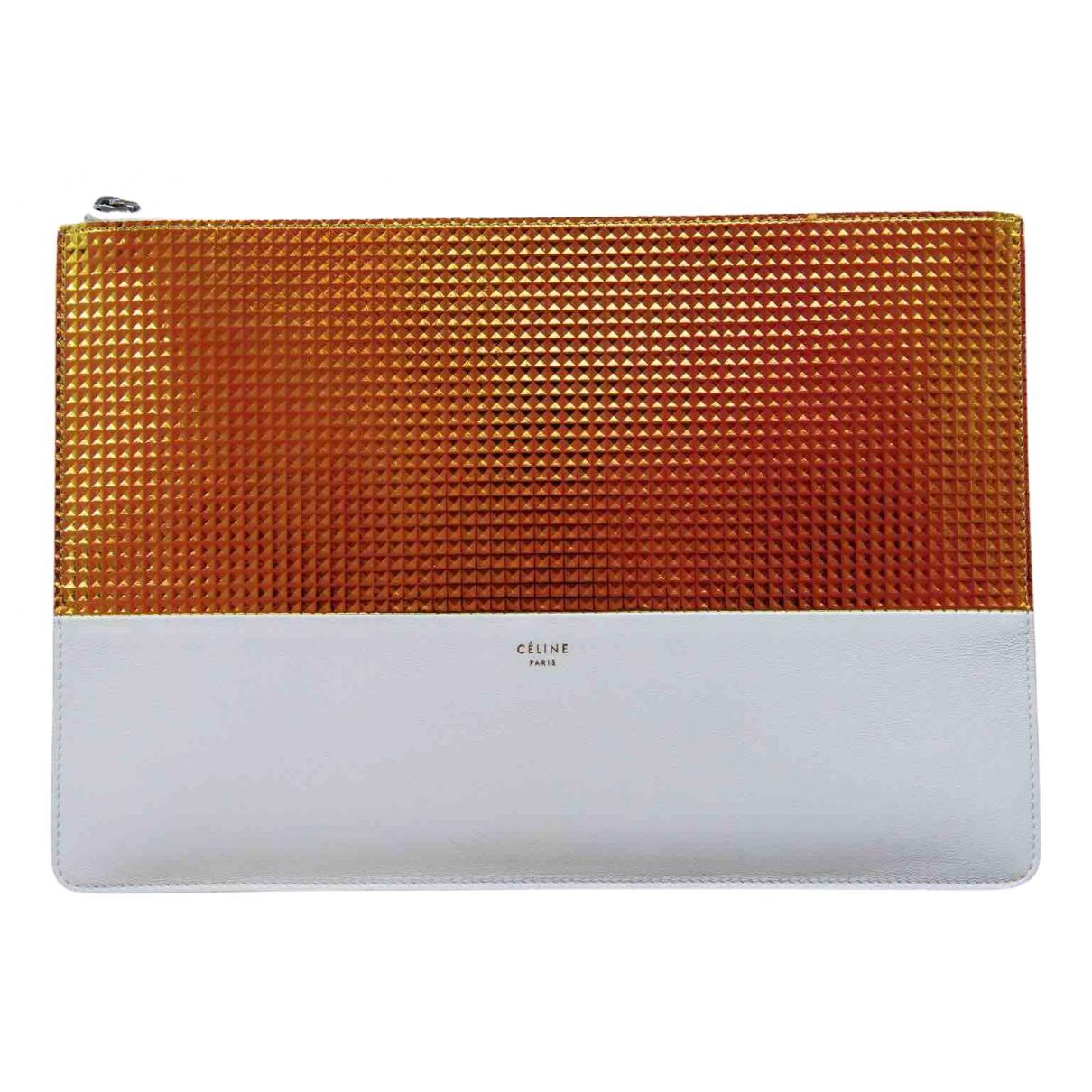 Celine \N Ecru Leather Clutch bag for Women \N