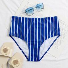 Bikini Hoschen mit Streifen und hoher Taille