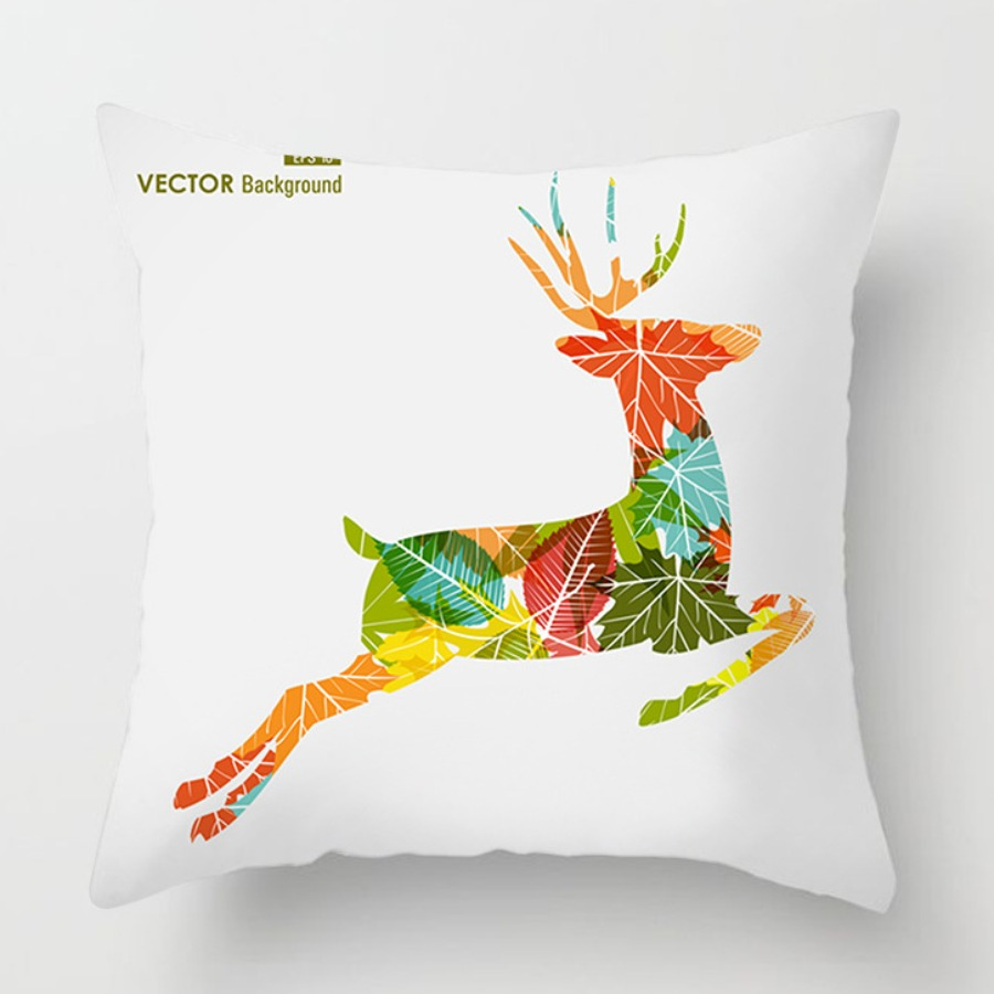 LW lovely Chic Cartoon Print Multicolor Decorative Pillow Case