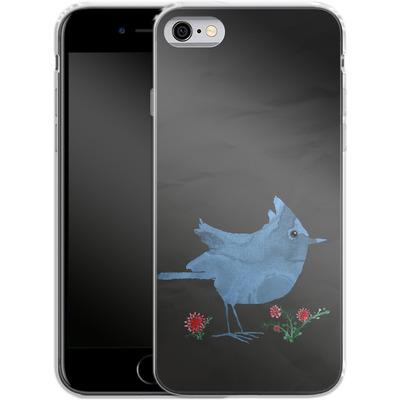 Apple iPhone 6s Silikon Handyhuelle - Watercolour Bird Black von caseable Designs
