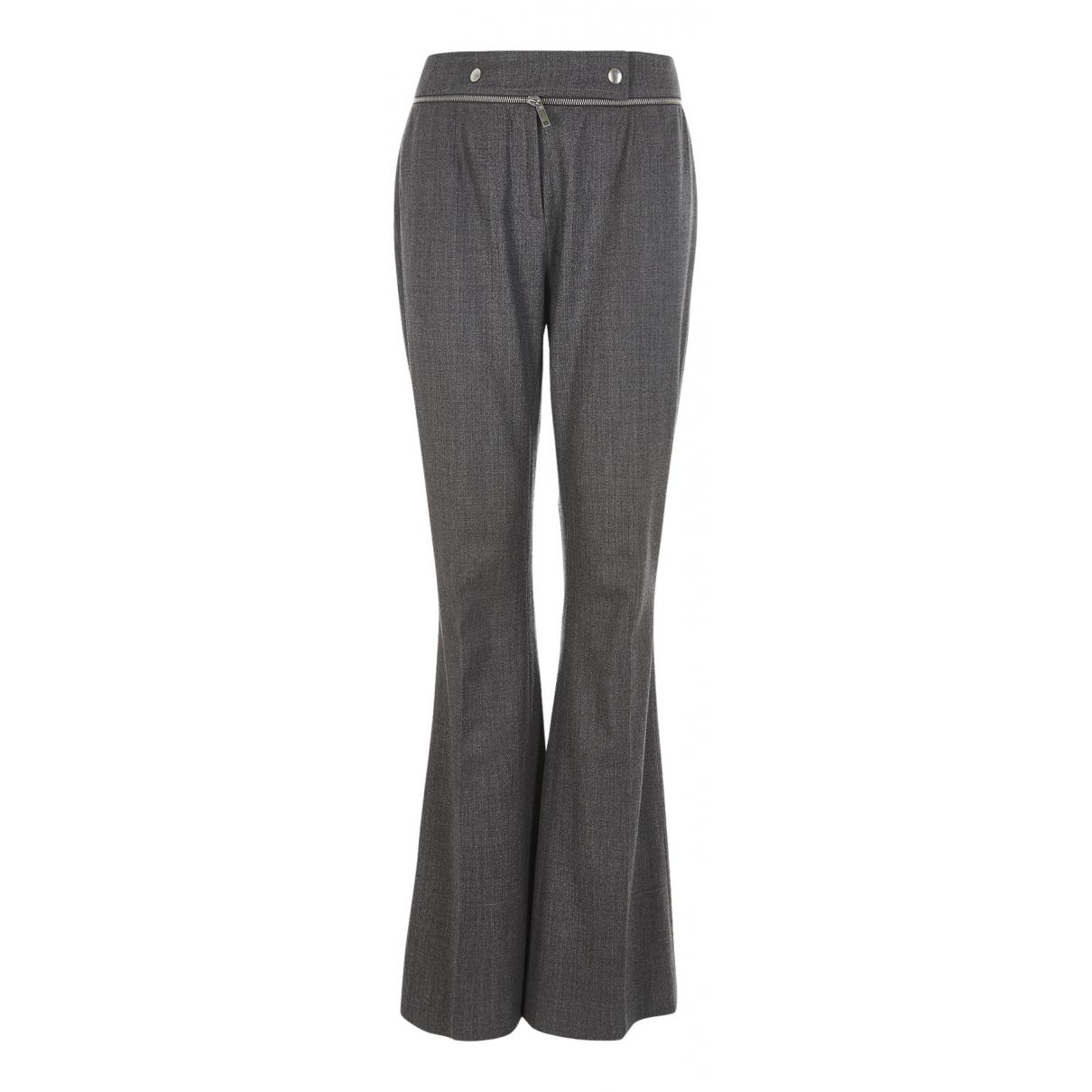 Celine N Grey Wool Trousers for Women 8 UK