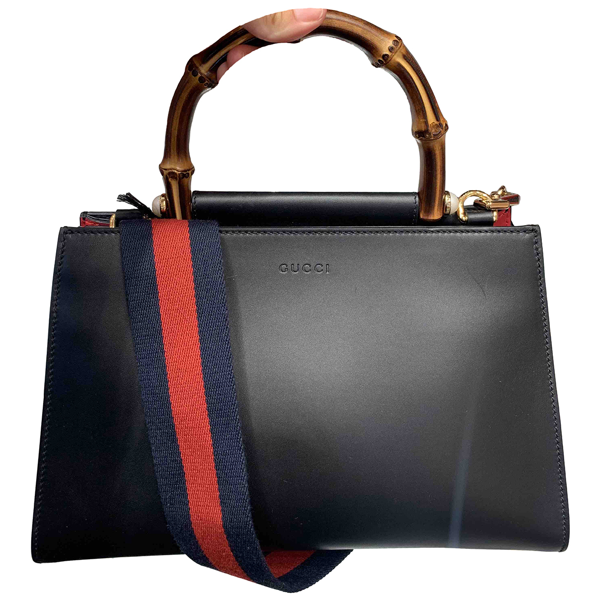 Gucci - Sac a main Nymphaea pour femme en cuir - noir