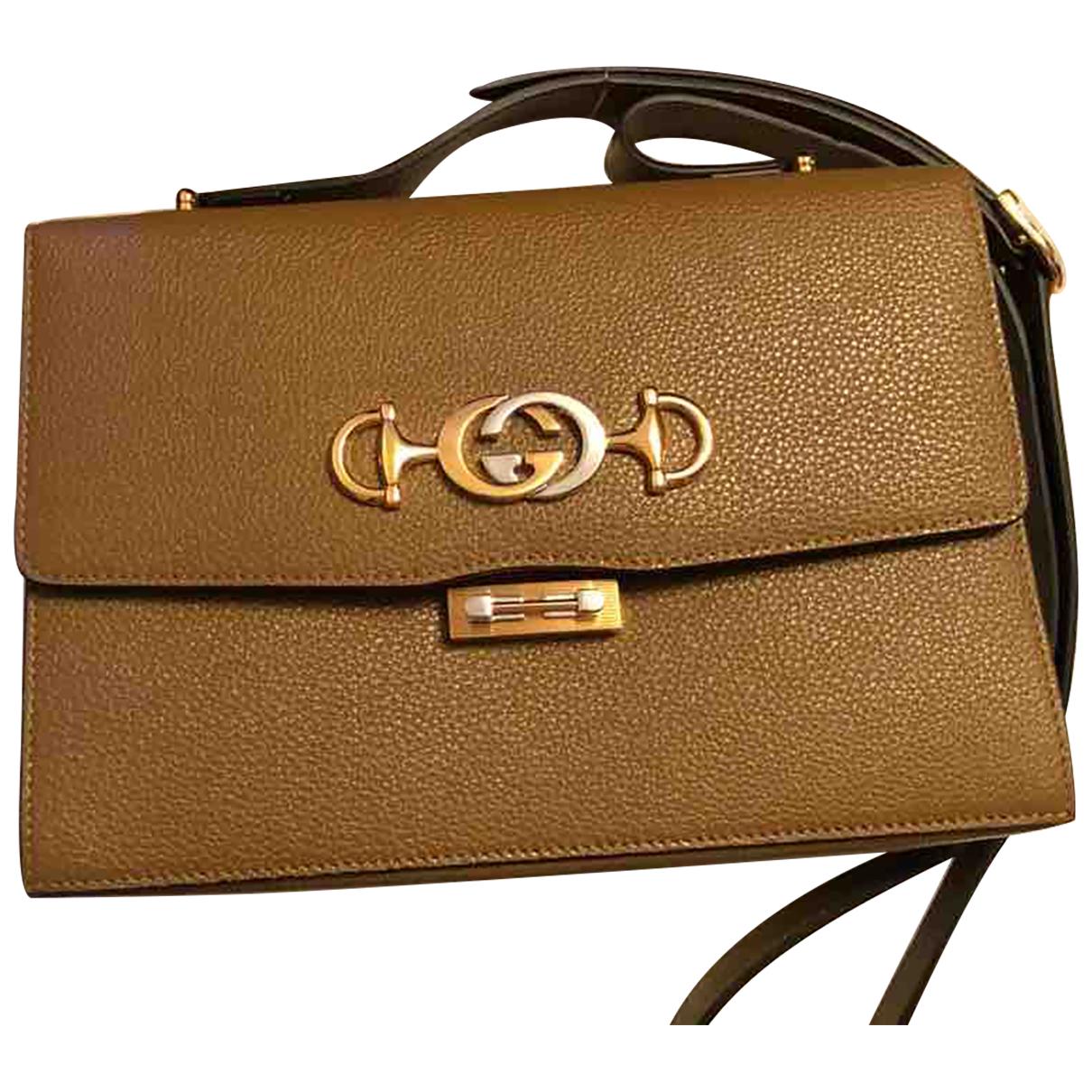 Gucci Zumi Brown Leather handbag for Women N