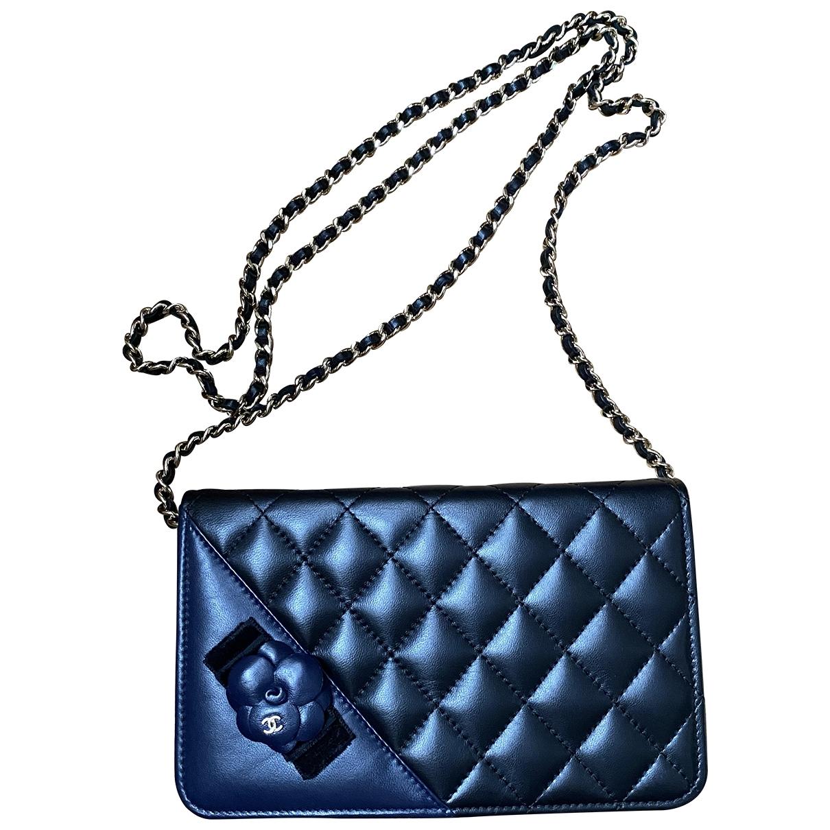 Chanel Wallet on Chain Black Leather handbag for Women \N