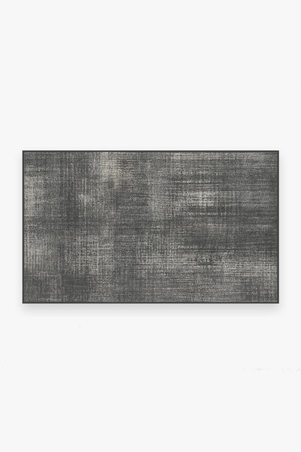 Washable Rug Cover & Pad   Sudaria Solid Greyscale Rug   Stain-Resistant   Ruggable   3'x5'
