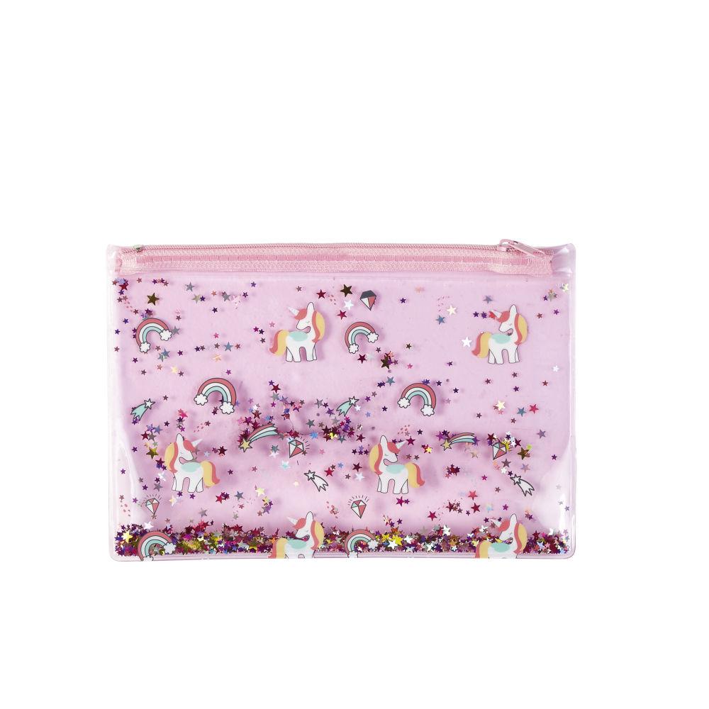 Tasche, rosa mit buntem Glitzer