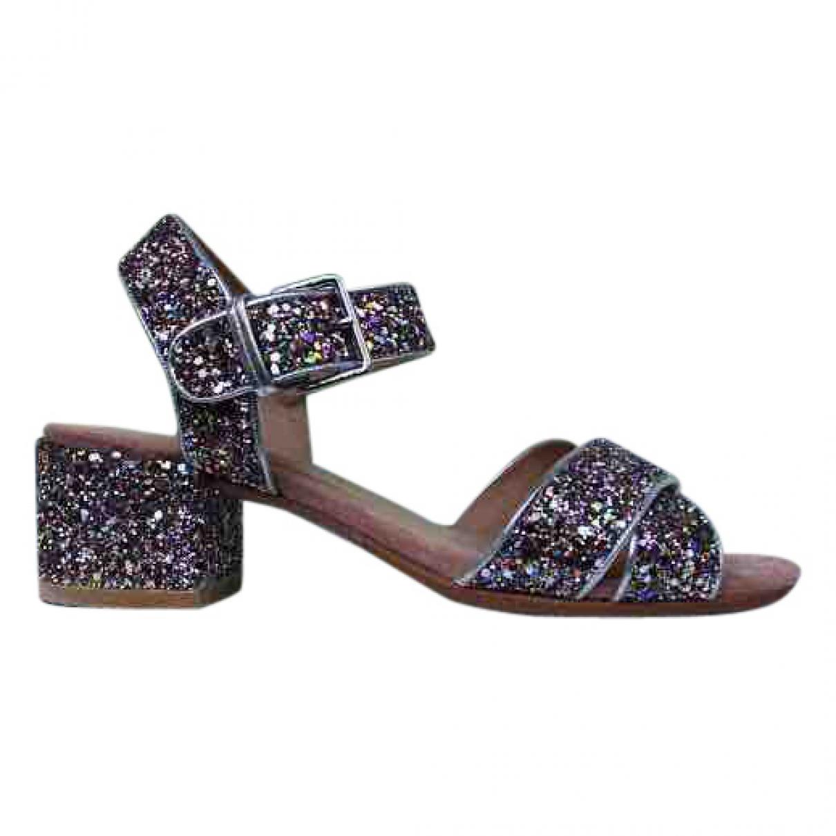 Bimba Y Lola \N Silver Leather Sandals for Women 38 EU