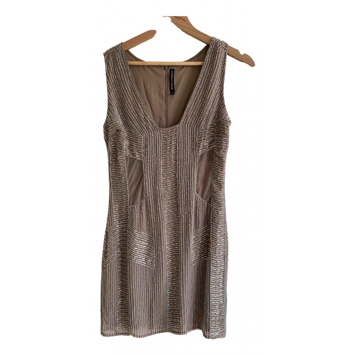 W118 By Walter Baker \N Kleid in  Metallic Polyester