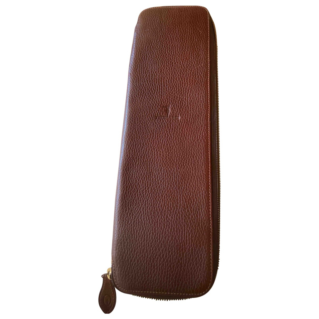 Trussardi \N Brown Leather Small bag, wallet & cases for Men \N