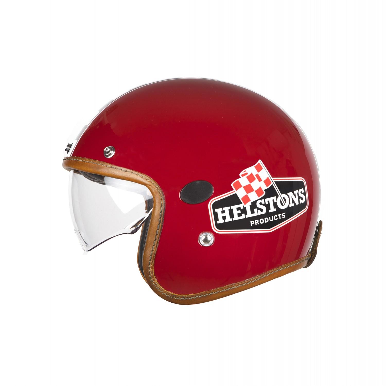 Helstons Flag Carbon Fiber Burgundy Jet Helmet 2XL