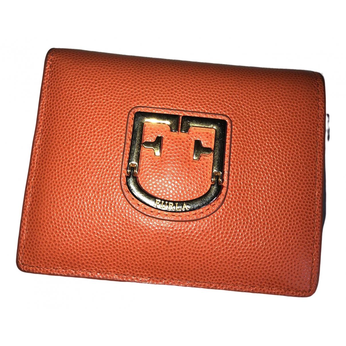 Furla \N Portemonnaie in  Orange Lackleder