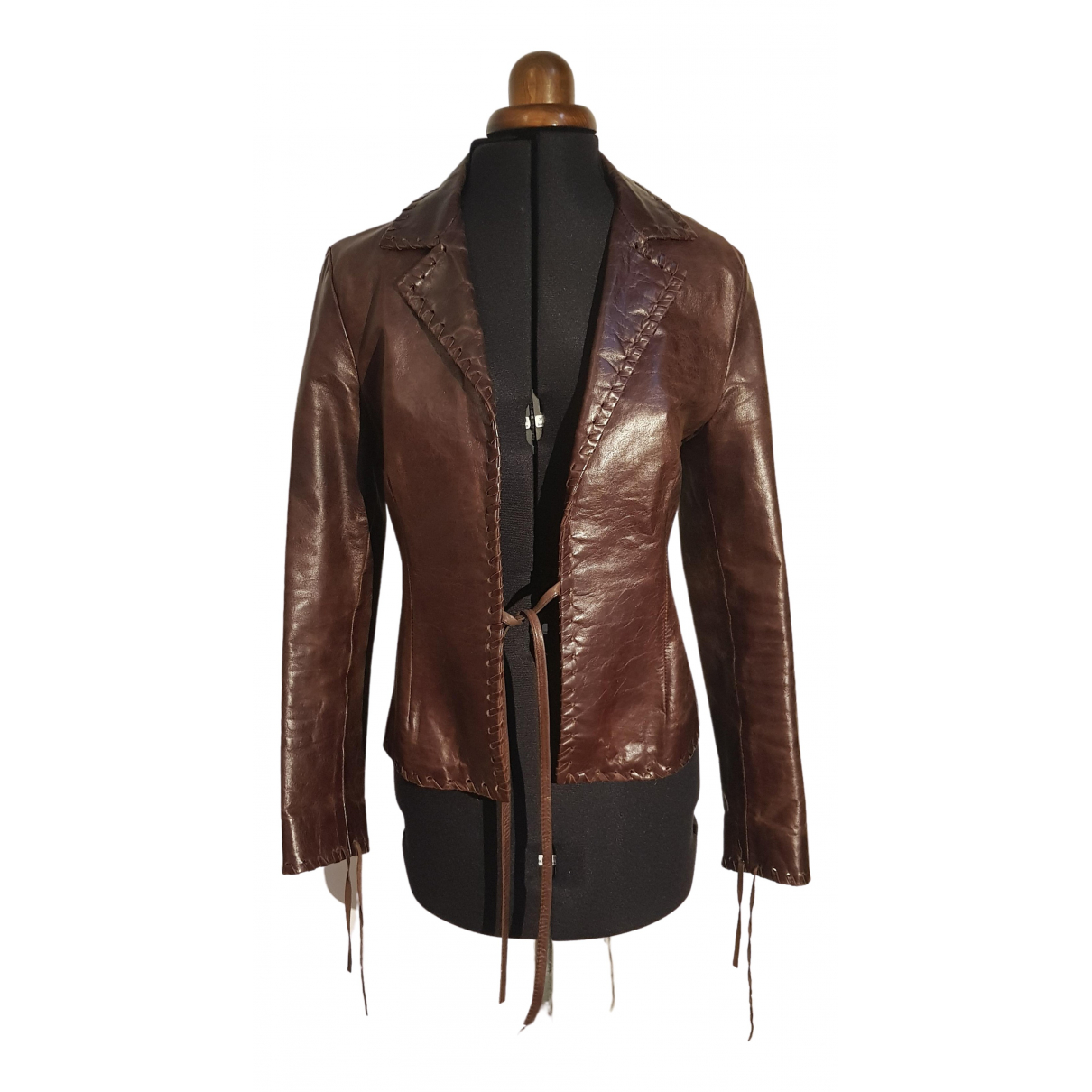 Chevignon \N Brown Leather jacket for Women S International