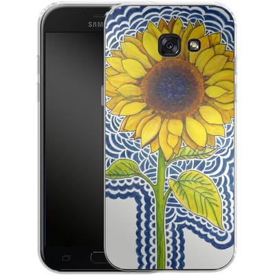 Samsung Galaxy A5 (2017) Silikon Handyhuelle - Sunflower Drawing von Kaitlyn Parker