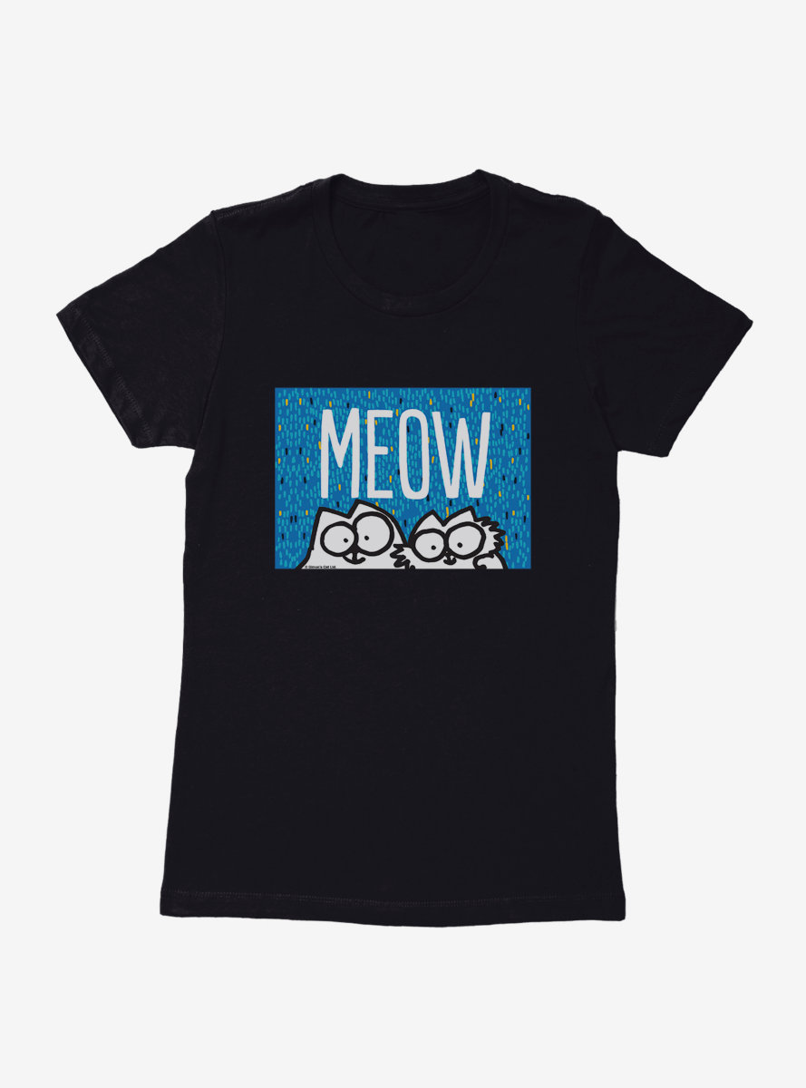 Simon's Cat Meow Cats Womens T-Shirt