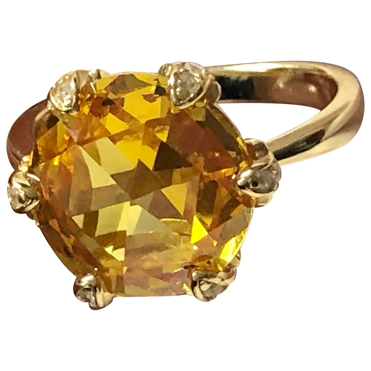 Non Signe / Unsigned Bagues Cocktails Ring in  Gold Vermeil