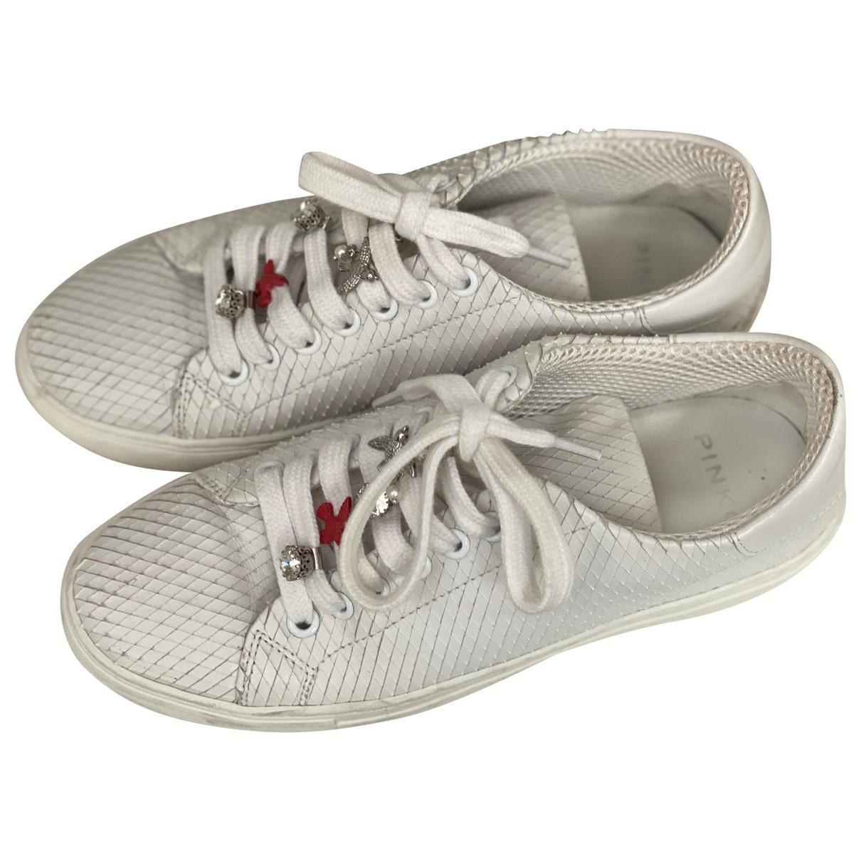 Pinko \N Sneakers in  Weiss Exotenleder