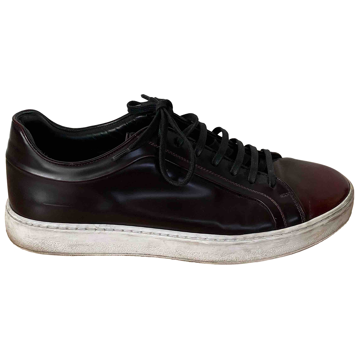 Dior Homme \N Black Patent leather Trainers for Men 44 EU