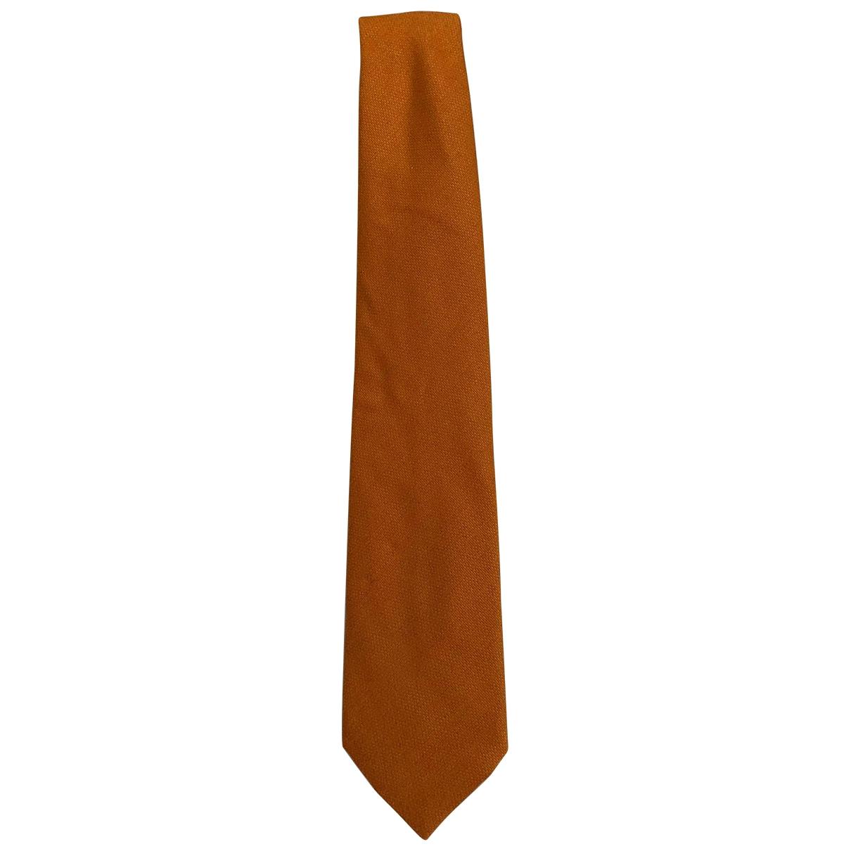 Louis Vuitton \N Krawatten in  Orange Kaschmir