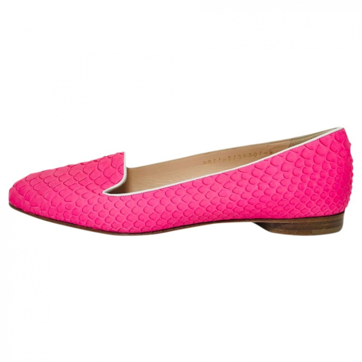 Gina \N Pink Leather Ballet flats for Women 4 UK