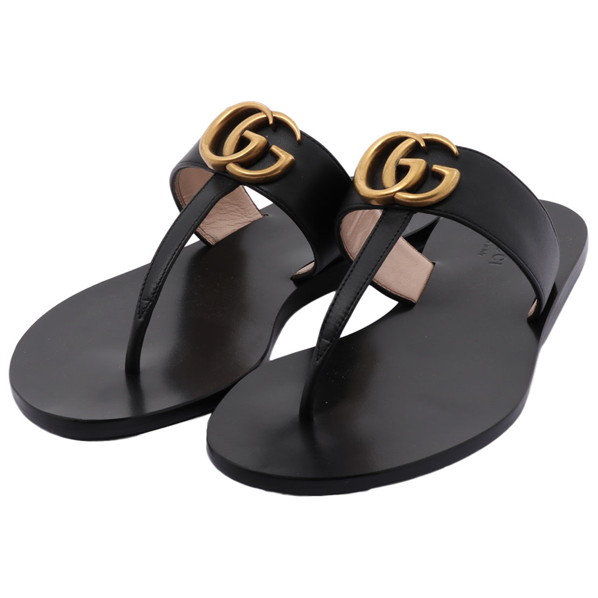 Gucci N Black Leather Sandals for Men 35 EU