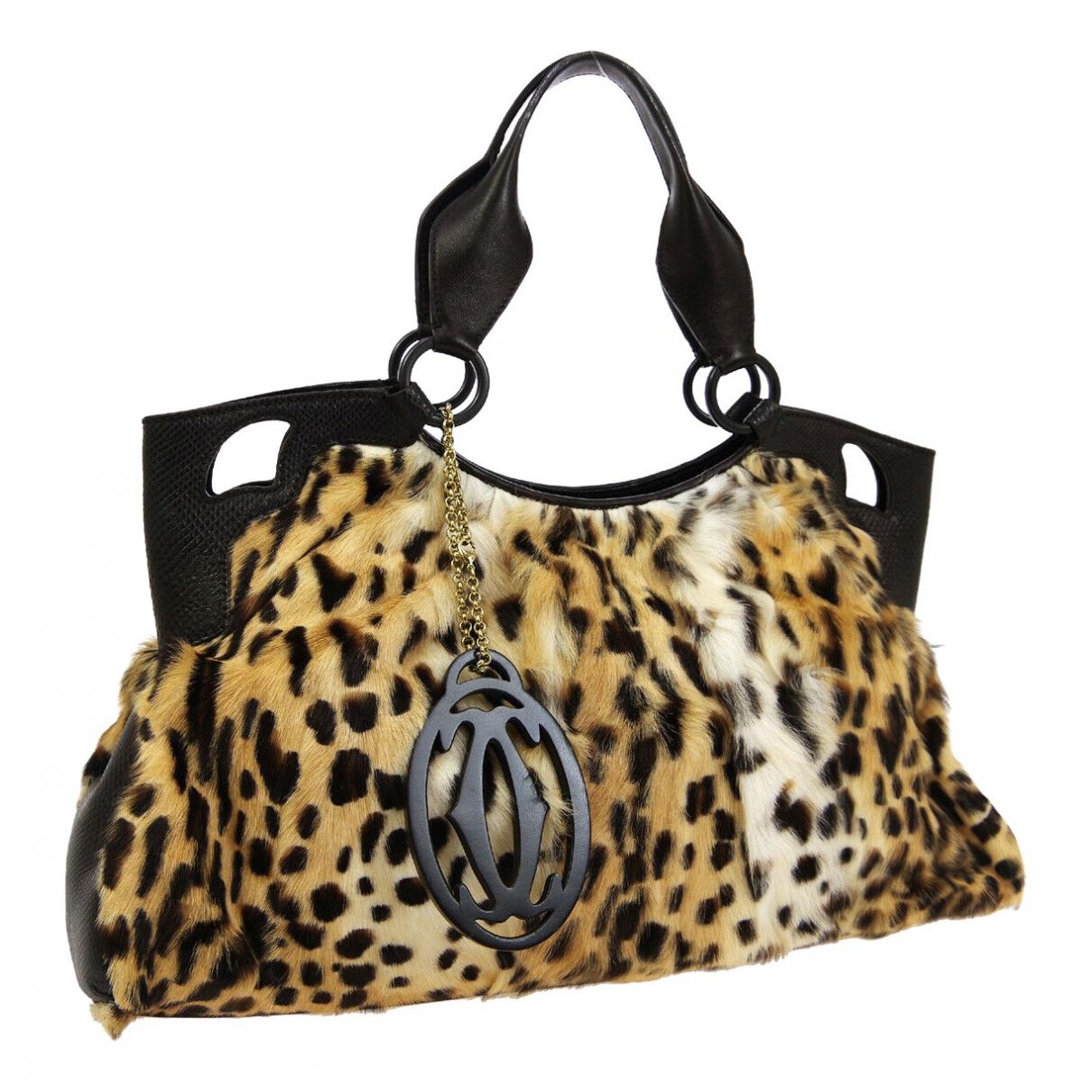 Cartier \N Brown Pony-style calfskin handbag for Women \N