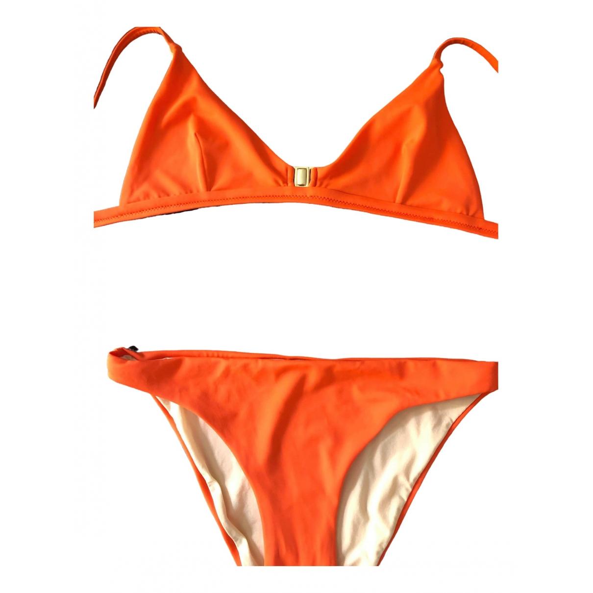 Non Signe / Unsigned \N Badeanzug in  Orange Lycra
