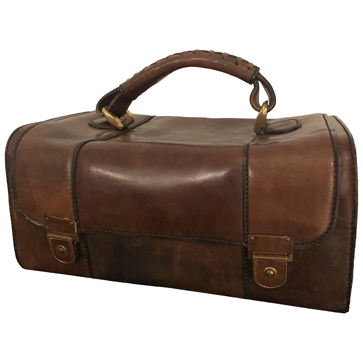 Non Signé / Unsigned \N Brown Leather Travel bag for Women \N