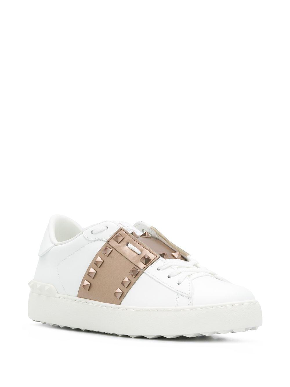 Rockstud Untitled Leather Sneakers