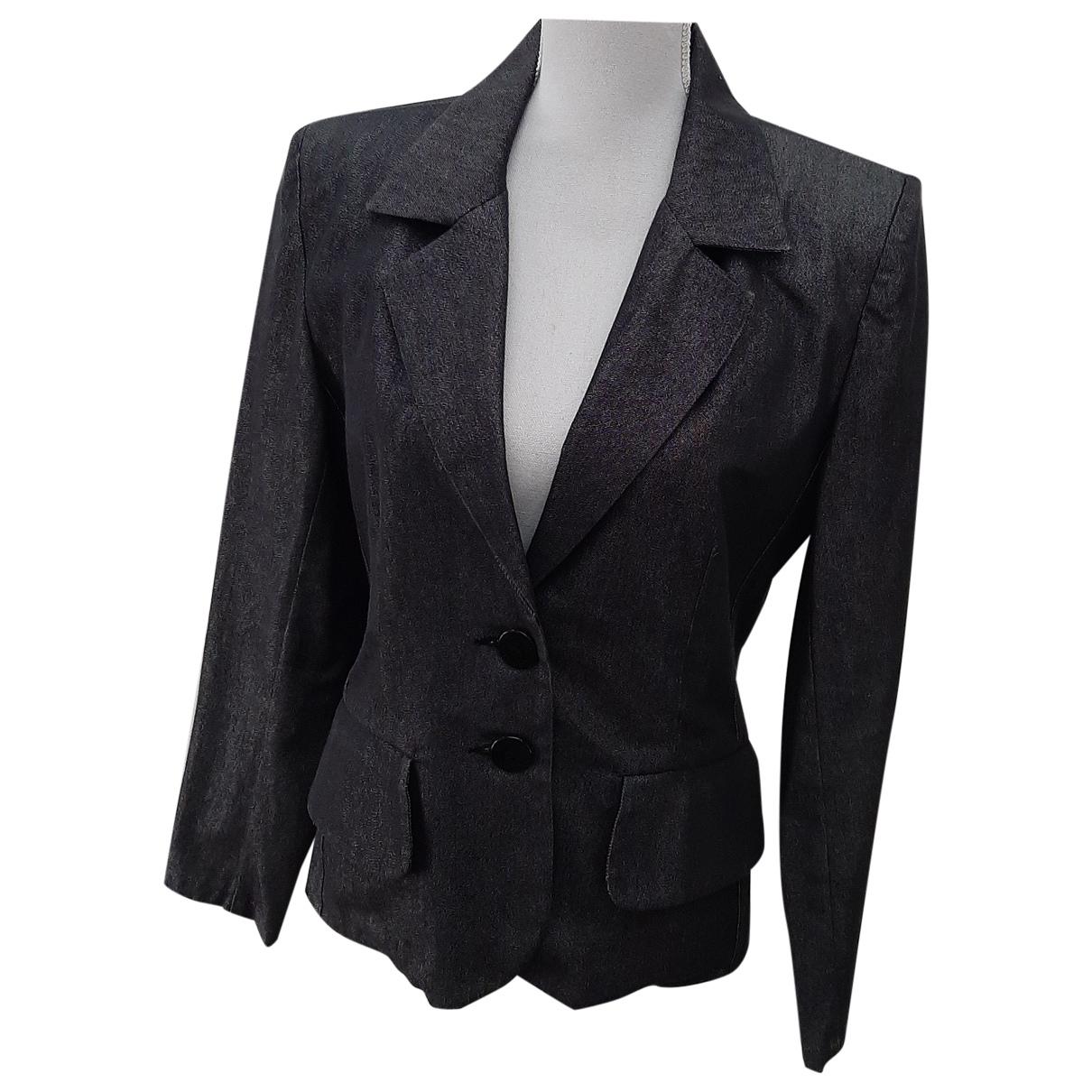 Yves Saint Laurent \N Anthracite Cotton jacket for Women 38 FR