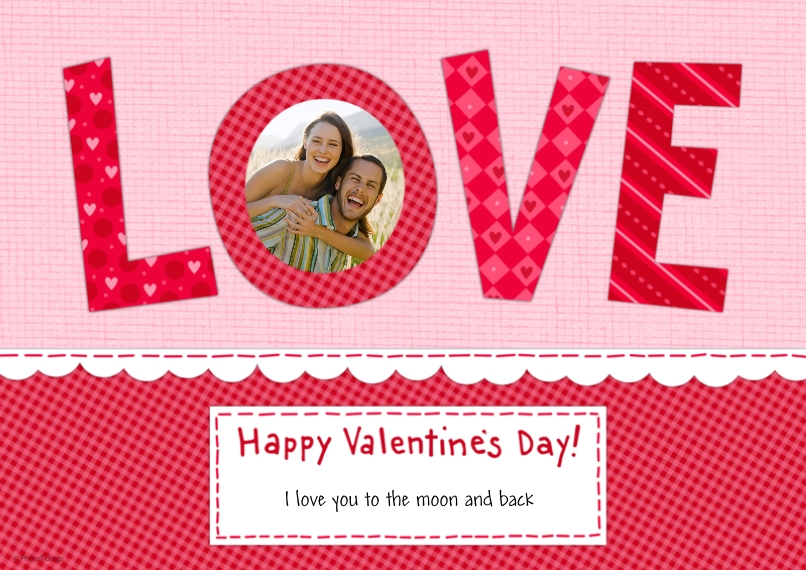 Valentines Cards 5x7 Cards, Premium Cardstock 120lb with Elegant Corners, Card & Stationery -LOVE