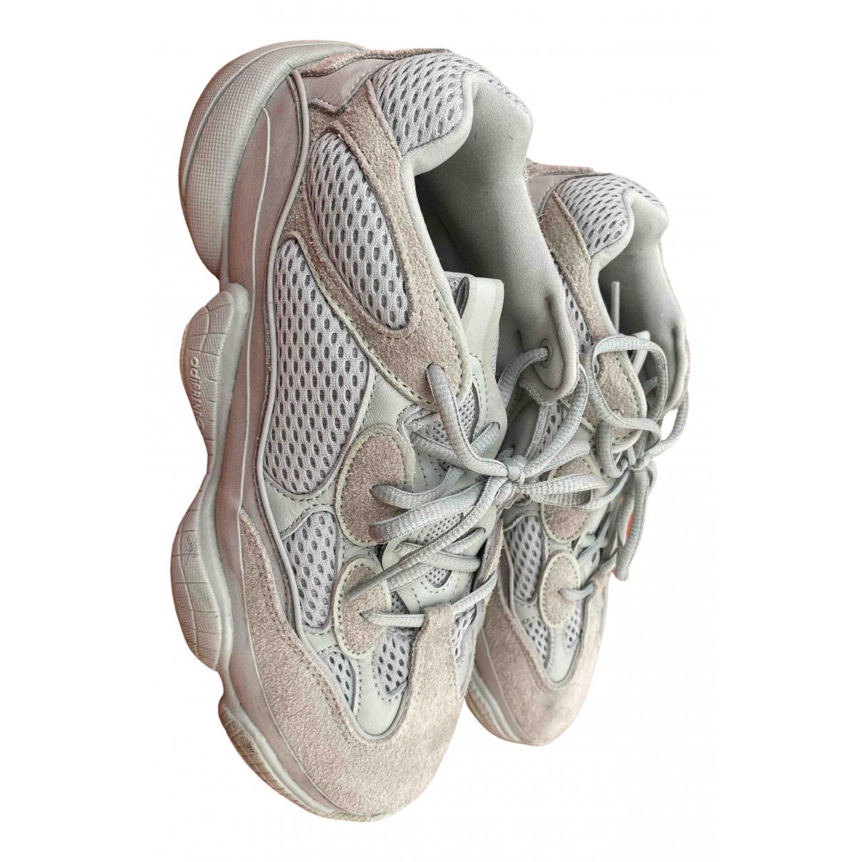 Yeezy X Adidas - Baskets 500 pour homme en cuir - blanc