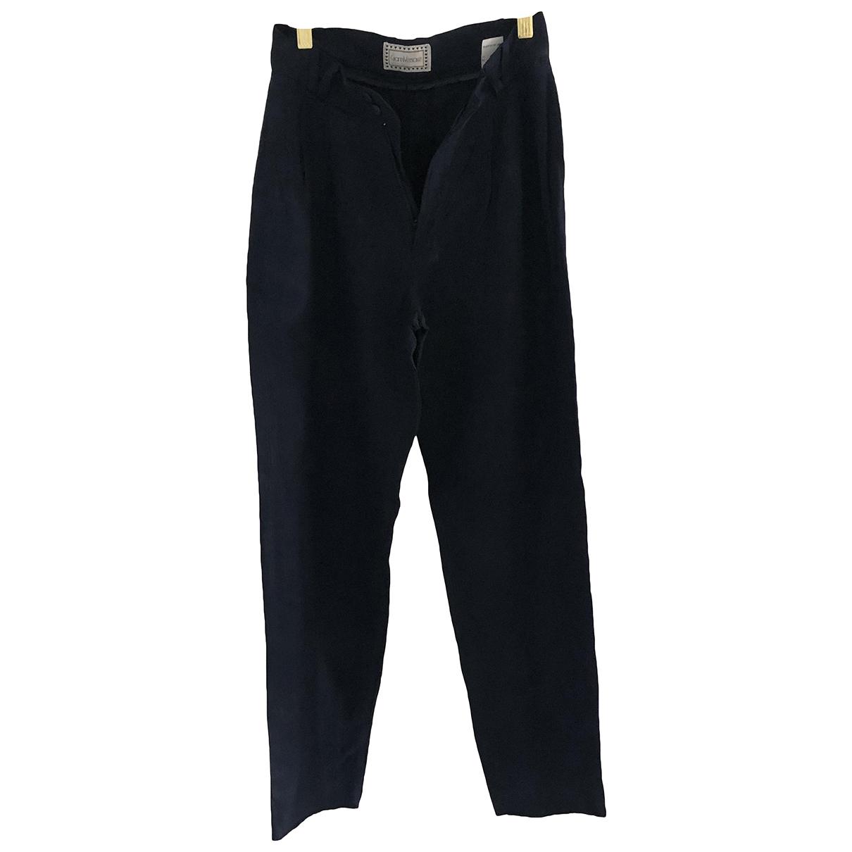 Gianni Versace N Blue Trousers for Women XXS International