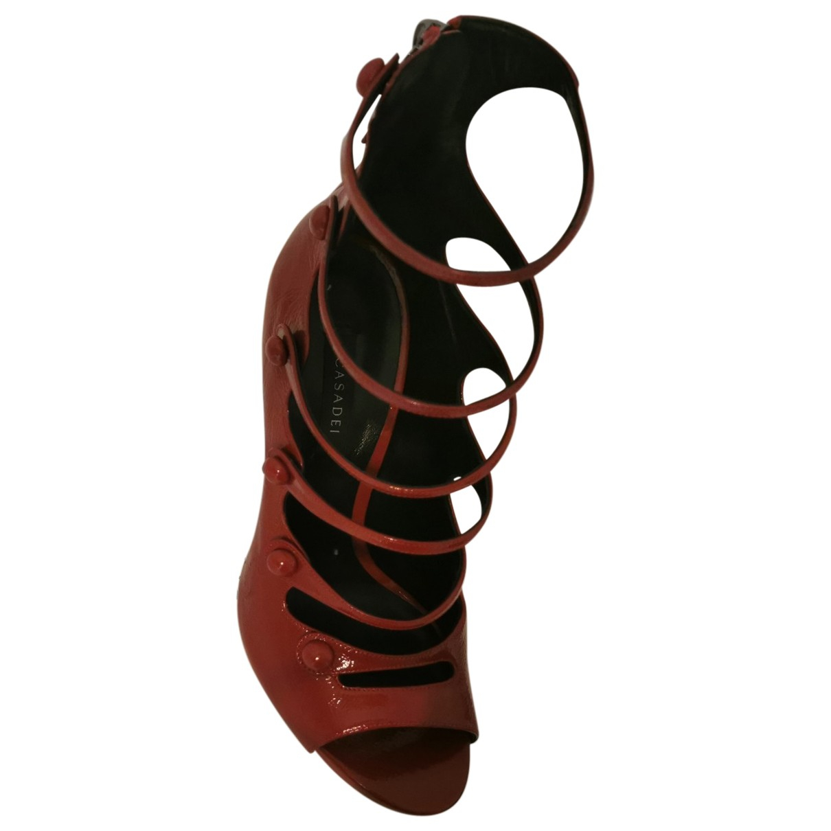 Casadei \N Red Leather Sandals for Women 39 EU