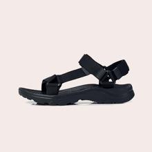 Men Cut Out Velcro Strap Sandals