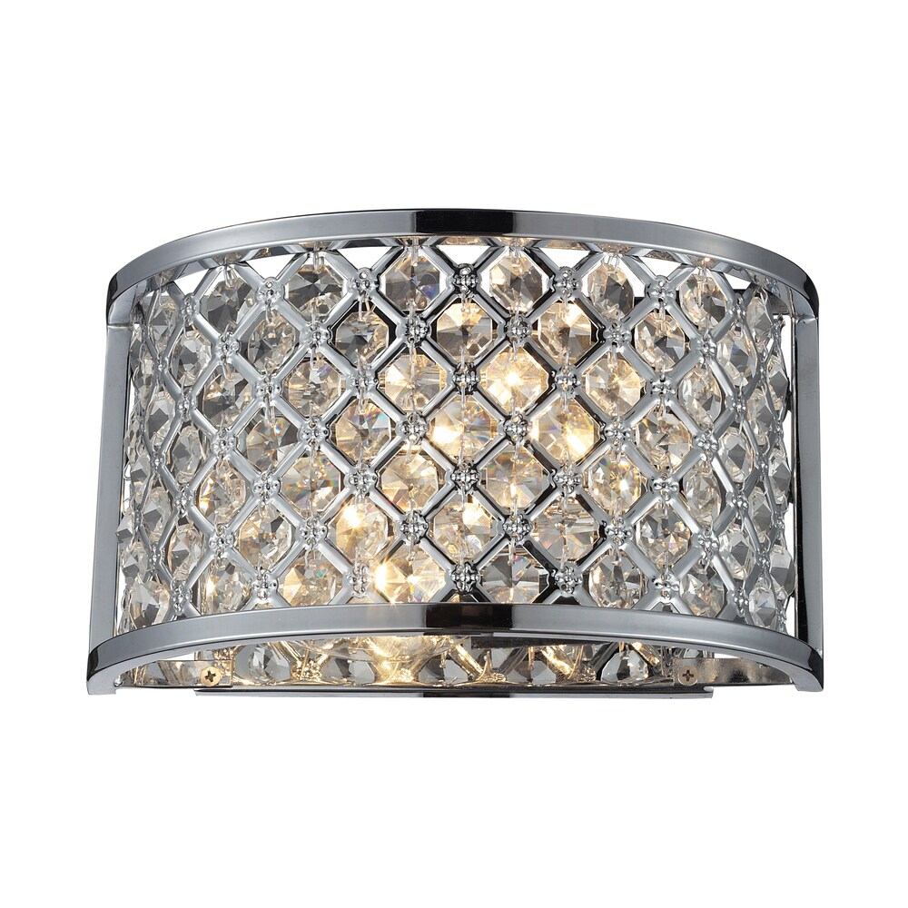 Polished Chrome Genevieve Collection 2-Light Wall Sconce (Chrome, 60W Cand.)