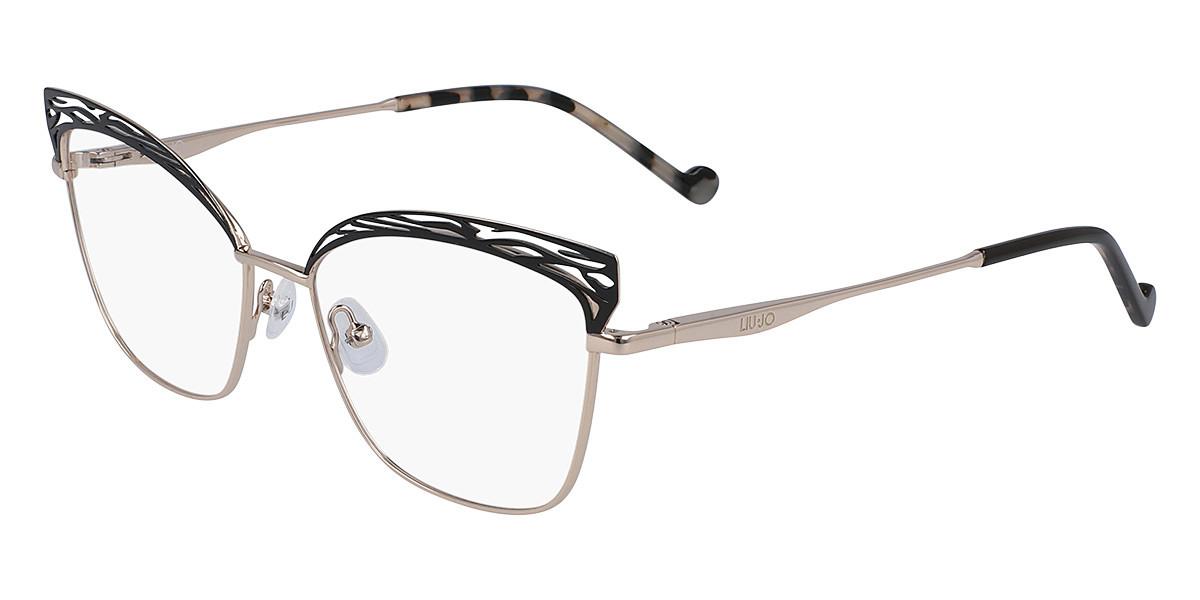 Liu Jo LJ2150 717 Women's Glasses Gold Size 54 - Free Lenses - HSA/FSA Insurance - Blue Light Block Available