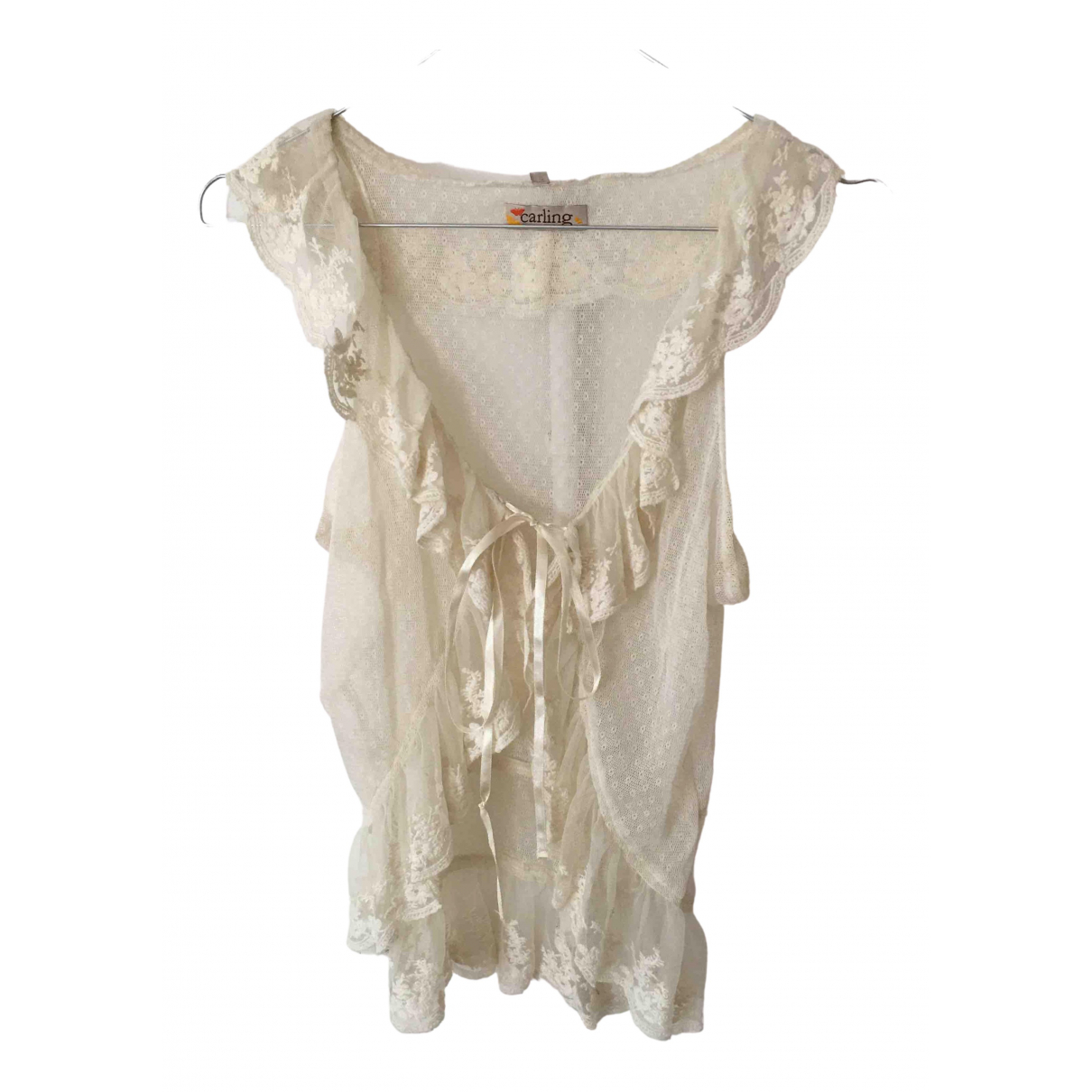 Non Signé / Unsigned \N Beige  top for Women 38 FR