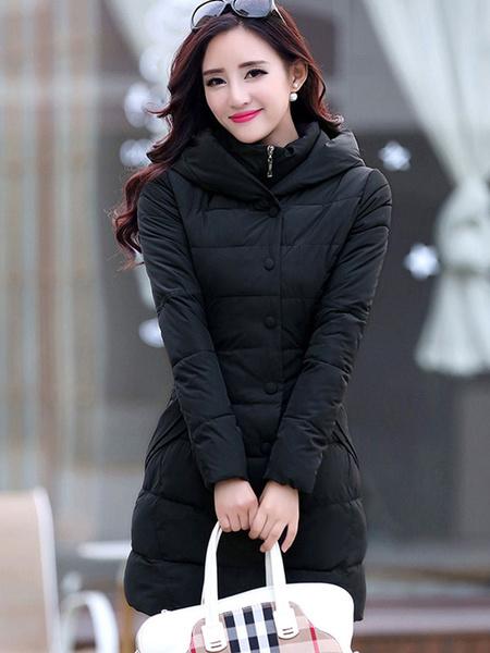 Milanoo Puffer Coat Abrigos de burbujas rellenos de algodon con bolsillos para el invierno