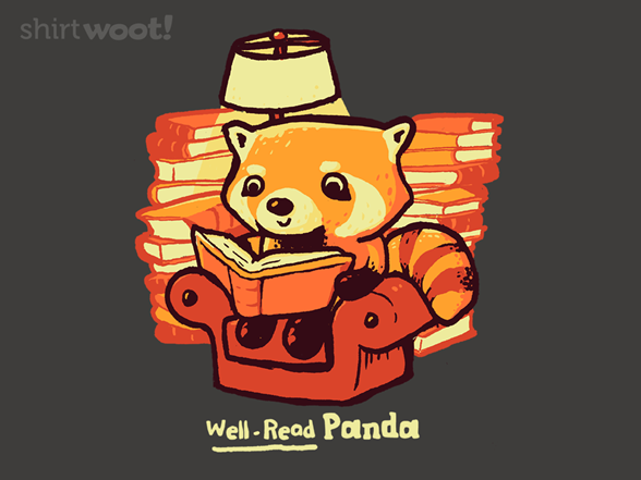 Well-read Panda T Shirt