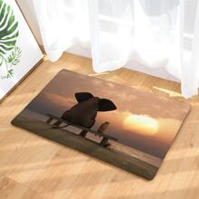 Elephant Print Floor Mat