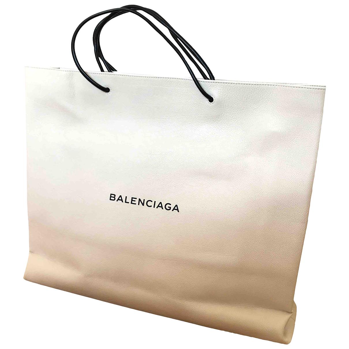 Balenciaga - Sac de voyage   pour femme en cuir - blanc