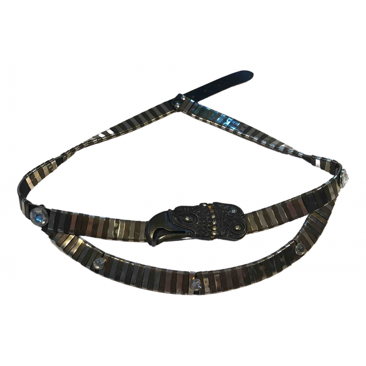 Non Signé / Unsigned Hippie Chic Leather belt for Women 90 cm