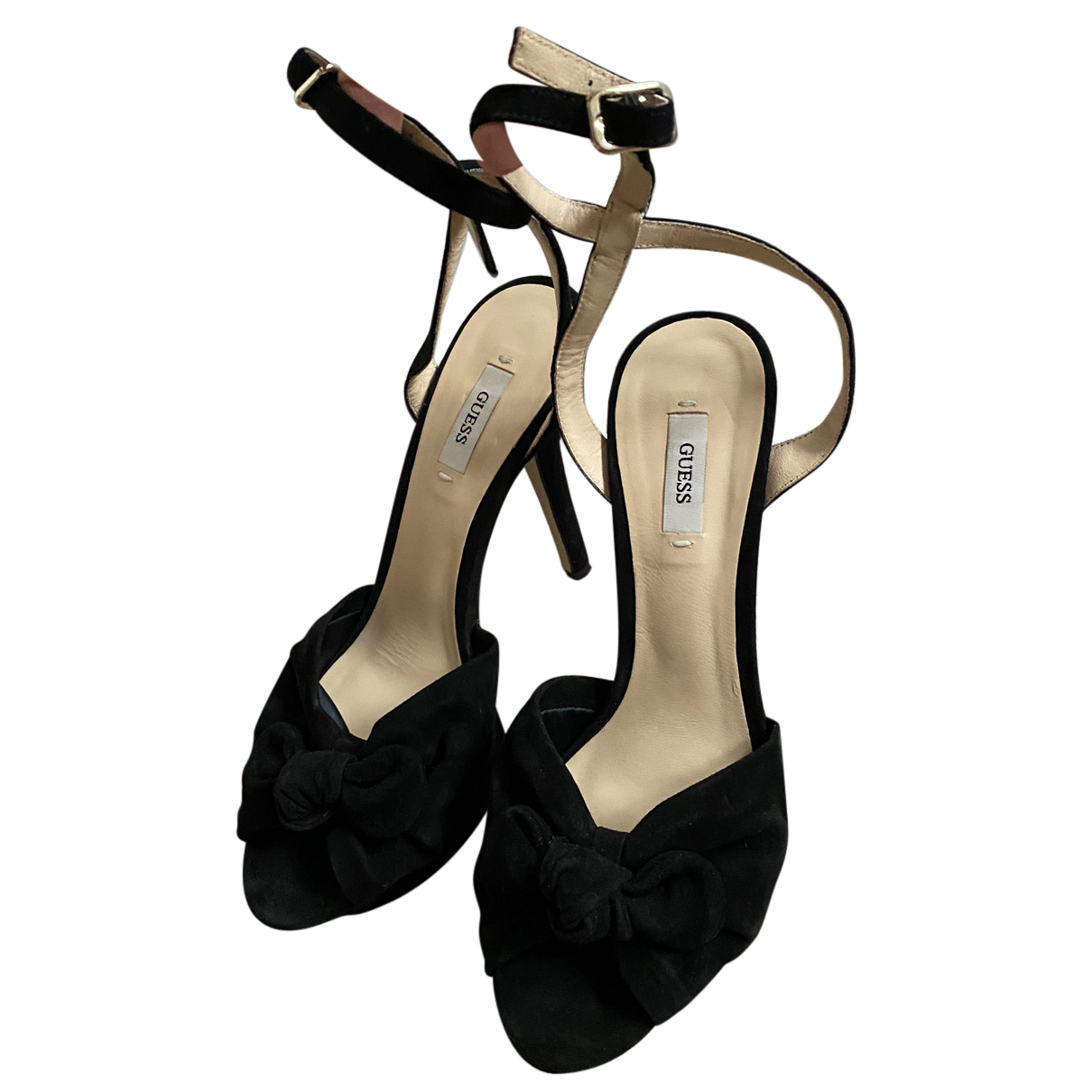 Guess - Sandales   pour femme en cuir - noir