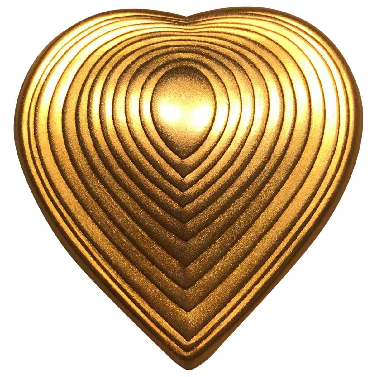 Broche en Metal Dorado Non Signe / Unsigned