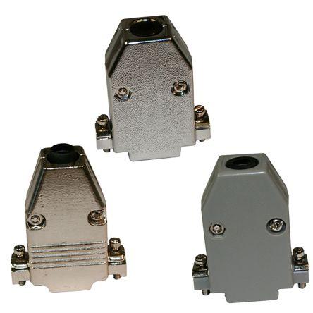 Norcomp , 979 Zinc D-sub Connector Backshell, 9 Way, Grey